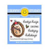 Sunny Studio Stamps - Christmas - Clear Photopolymer Stamps - Hedgey Holidays