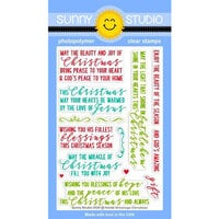 Sunny Studio Stamps - Christmas - Clear Photopolymer Stamps - Inside Greetings - Christmas