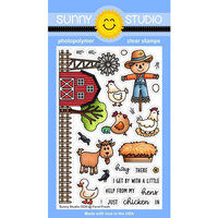 Sunny Studio Stamps - Clear Photopolymer Stamps - Farm Fresh 4x6 Clear Stamps