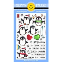 Sunny Studio Stamps - Christmas - Clear Photopolymer Stamps - Penguin Pals
