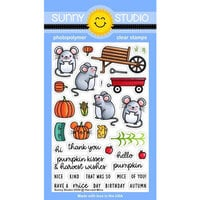 Sunny Studio Stamps - Clear Photopolymer Stamps - Harvest Mice