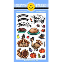 Sunny Studio Stamps - Clear Photopolymer Stamps - Bountiful Autumn
