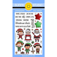 Sunny Studio Stamps - Christmas - Clear Photopolymer Stamps - North Pole