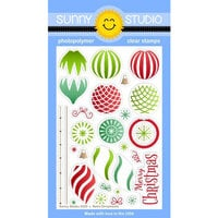 Sunny Studio Stamps - Christmas - Clear Photopolymer Stamps - Retro Ornaments