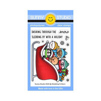 Sunny Studio Stamps - Clear Photopolymer Stamps - Sledding Critters