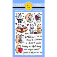 Sunny Studio Stamps - Clear Photopolymer Stamps - Meow and Furever