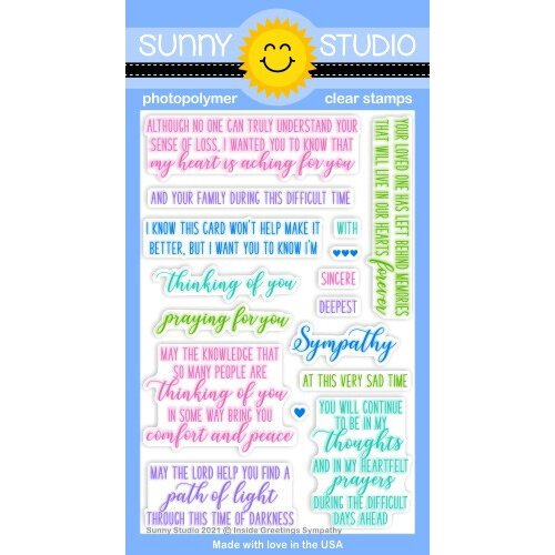 Sunny Studio Stamps - Clear Photopolymer Stamps - Inside Greetings Sympathy
