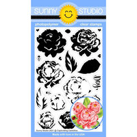 Sunny Studio Stamps - Clear Photopolymer Stamps - Captivating Camellias