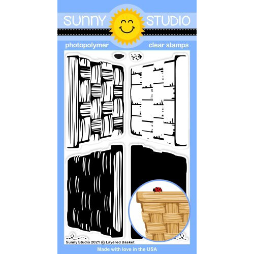 Sunny Studio Stamps - Clear Photopolymer Stamps - Layered Basket