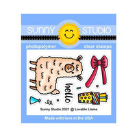 Sunny Studio Stamps - Clear Photopolymer Stamps - Loveable Llama