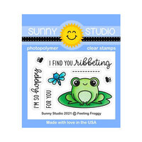 Sunny Studio Stamps - Clear Photopolymer Stamps - Feeling Froggy