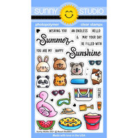 Sunny Studio Stamps - Clear Photopolymer Stamps - Beach Buddies