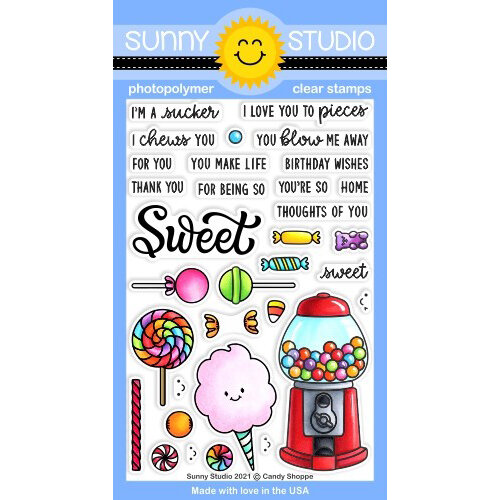Sunny Studio Stamps - Clear Photopolymer Stamps - Candy Shoppe