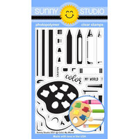 Sunny Studio Stamps - Clear Photopolymer Stamps - Color My World