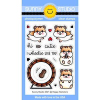 Sunny Studio Stamps - Clear Photopolymer Stamps - Happy Hamsters
