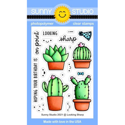 Sunny Studio Stamps - Clear Photopolymer Stamps - Looking Sharp
