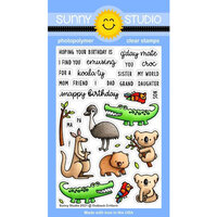 Sunny Studio Stamps - Clear Photopolymer Stamps - Outback Critters