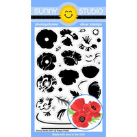 Sunny Studio Stamps - Clear Photopolymer Stamps - Poppy Fields