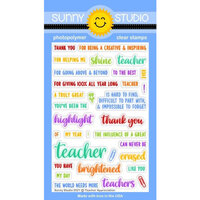 Sunny Studio Stamps - Clear Photopolymer Stamps - Teacher Appreciation