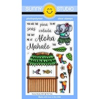 Sunny Studio Stamps - Clear Photopolymer Stamps - Tiki Time