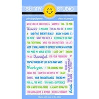 Sunny Studio Stamps - Clear Photopolymer Stamps - Words of Gratitude