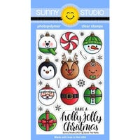 Sunny Studio Stamps - Christmas - Clear Photopolymer Stamps - Deck The Halls