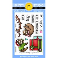 Sunny Studio Stamps - Clear Photopolymer Stamps - Lazy Christmas