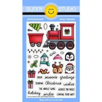 Sunny Studio Stamps - Christmas - Clear Photopolymer Stamps - Holiday Express