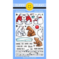 Sunny Studio Stamps - Clear Photopolymer Stamps - Bear Hugs