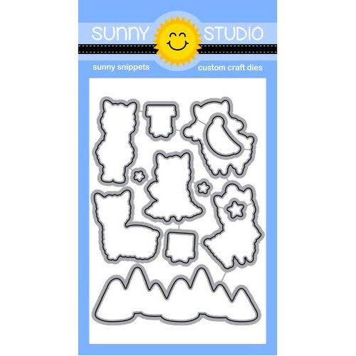 Sunny Studio Stamps - Christmas - Sunny Snippets - Dies - Alpaca Holiday