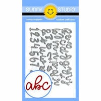 Sunny Studio Stamps - Christmas - Sunny Snippets - Dies - Loopy Letters Alphabets