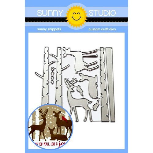 Sunny Studio Stamps - Christmas - Sunny Snippets - Dies - Rustic Winters