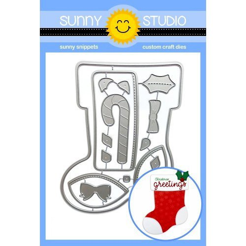 Sunny Studio Stamps - Christmas - Sunny Snippets - Dies - Santa