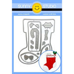 Sunny Studio Stamps - Christmas - Sunny Snippets - Dies - Santa's Stockings