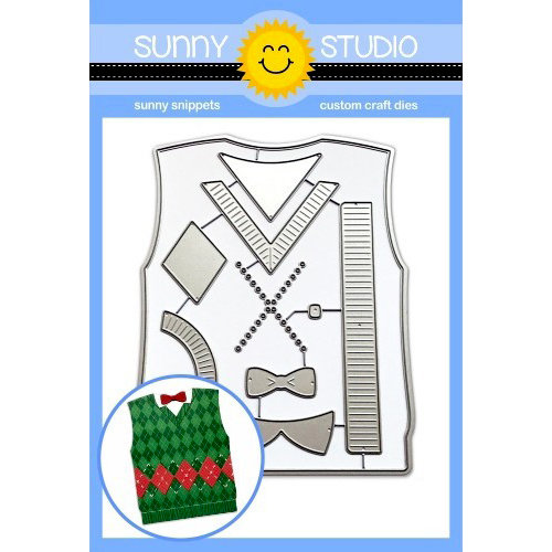 Sunny Studio Stamps - Christmas - Sunny Snippets - Dies - Sweater Vests