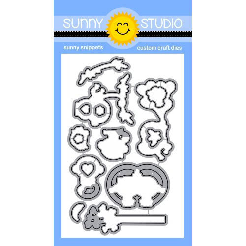 Sunny Studio Stamps - Sunny Snippets - Dies - Love Monkey