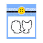Sunny Studio Stamps - Sunny Snippets - Dies - Puppy Dog Kisses