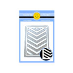 Sunny Studio Stamps - Dies - Frilly Frames - Chevron