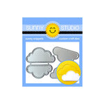 Sunny Studio Stamps - Sunny Snippets - Dies - Fluffy Clouds