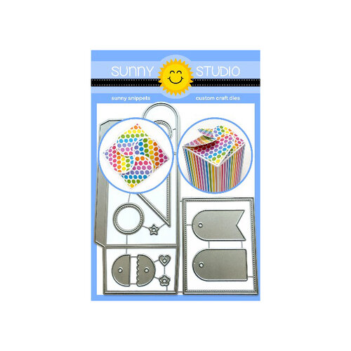 Sunny Studio Stamps - Sunny Snippets - Dies - Wrap Around Box