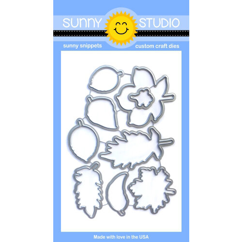 Sunny Studio Stamps - Sunny Snippets - Dies - Elegant Leaves