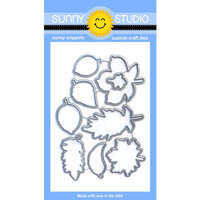 Sunny Studio Stamps - Sunny Snippets - Dies - Elegant Leaves