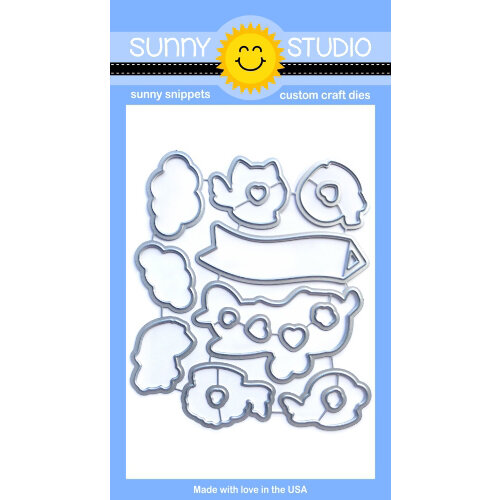 Sunny Studio Stamps - Sunny Snippets - Dies - Plane Awesome