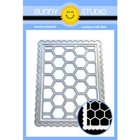 Sunny Studio Stamps - Sunny Snippets - Dies - Frilly Frames - Hexagons