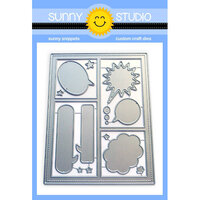 Sunny Studio Stamps - Sunny Snippets - Dies - Comic Strip Speech Bubble