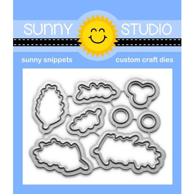 Sunny Studio Stamps - Christmas - Sunny Snippets - Dies - Season's Greetings