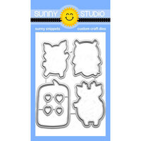 Sunny Studio Stamps - Sunny Snippets - Dies - Hogs & Kisses