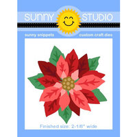 Sunny Studio Stamps - Christmas - Sunny Snippets - Dies - Layered Poinsettia