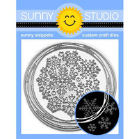 Sunny Studio Stamps - Christmas - Sunny Snippets - Dies - Snowflake Circle Frame