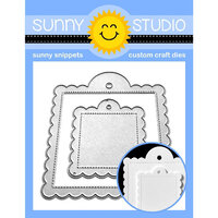 Sunny Studio Stamps - Sunny Snippets - Dies - Scalloped Tags - Square